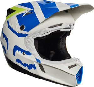 2017 Fox V3 Creo Youth Helmet - White/Yellow