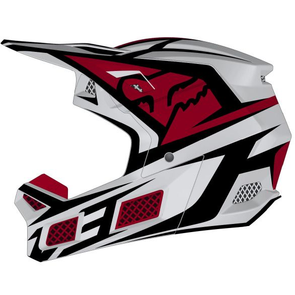 2020 Fox V3 Idol Motocross Helmet - Light Grey