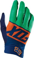 Fox Divizion Airline MX Glove - Orange/Blue